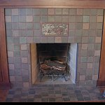 Batchelder Tile fireplace close up - Click here for larger view