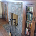 Batchelder Tile fireplace Craftsman Style - Click here for larger view
