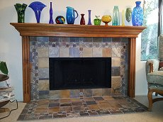 Tile face fireplace - Click here for larger view