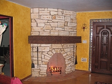 Rumford style fireplace - Click here for larger view