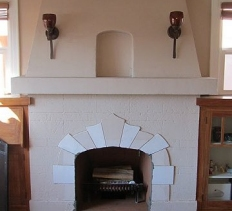 Stucco Fireplaces